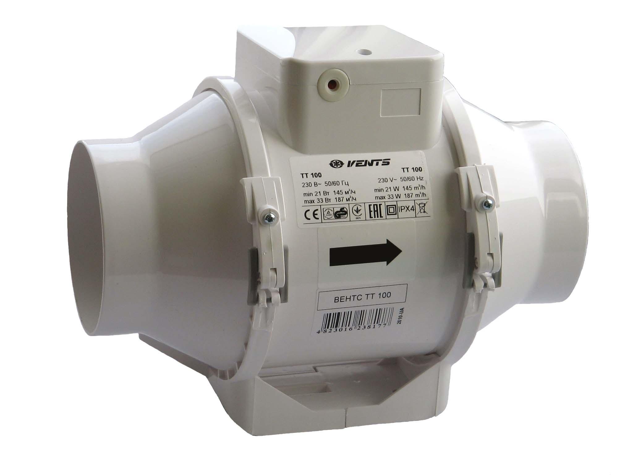 Канальный вентилятор 100 мм петрович